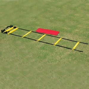 Escada de agilidade com degraus ajustáveis de plástico premium 4m Pista e Campo