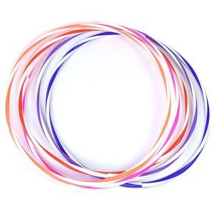Arco e bambolê com cores em espiral 76cm de diâmetro Pista e Campo