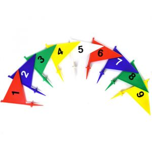 Bandeirolas numeradas plásticas multiuso Pista e Campo - cnj com 9 und (1-9)