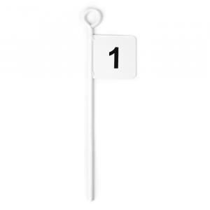 Bandeirola marcadora de aço 45 cm Pista e Campo - cnj com 12 und