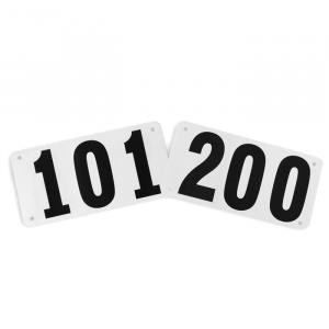 Números de papel resistente a água para corrida Pista e Campo - cnj com 100 und