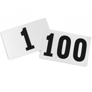 Números de papel para corrida Pista e Campo - cnj com 100 und