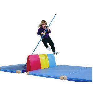 Mini-vara de fibra de vidro para atletismo escolar 2m Pista e Campo