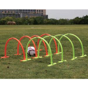 Arco de PVC móvel para treinamento de agilidade e drible Pista e Campo