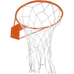 Aro semi-oficial de basquete de aço 41cm com rede Pista e Campo