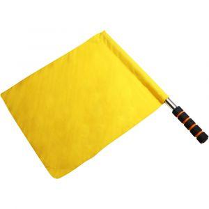 Bandeira de árbitro de tecido sintético com cabo metálico e empunhadura Pista e Campo