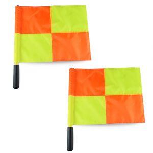 Bandeira xadrez de árbitro auxiliar de futebol Pista e Campo - duas
