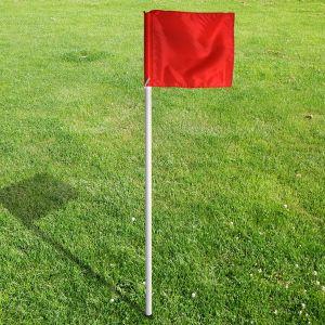 Bandeirola de escanteio oficial de futebol de campo reclinável premium Pista e Campo - cnj com 4 und