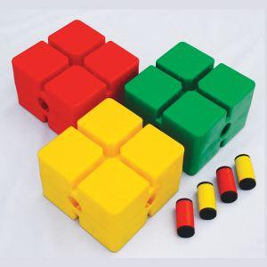 Base de PVC em cubo conectável para arcos planos e balizas Pista e Campo