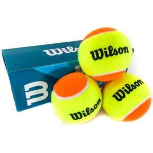Bolinha/bola de tênis de campo estágio 2 (laranja 50%) iniciantes Wilson Tour Premier Beach - tubo com 3 und