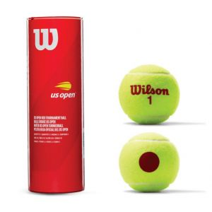 Bolinha/bola de tênis de campo estágio 3 (vermelha 75%) iniciantes Wilson US Open - tubo com 3 und