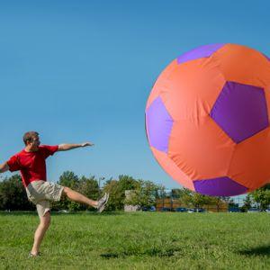 Bola de futebol gigante inflável Pista e Campo