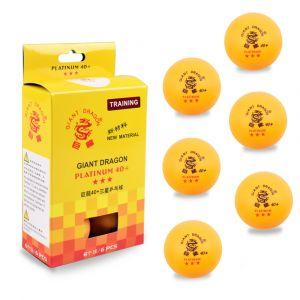 Bolinha de tênis de mesa 3 estrelas Giant Dragon - cnj com 6 und - laranja