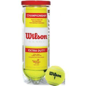 Bolinha e bola de tênis de campo Championship Extra Duty Wilson - tubo com 3 und