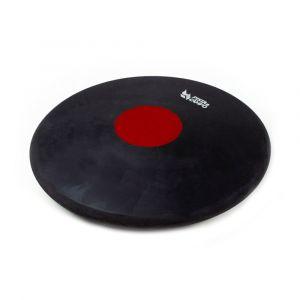 Disco de atletismo de borracha preto com centro colorido 1,75kg Pista e Campo capa
