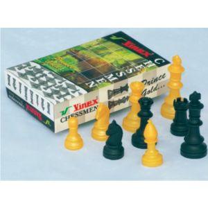 Jogo de peças plásticas de xadrez (rei com 9,2cm) Pista e Campo
