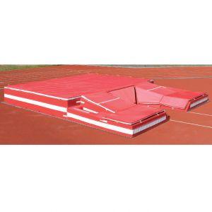 Área de queda (colchão) para salto com vara IAAF Pista e Campo