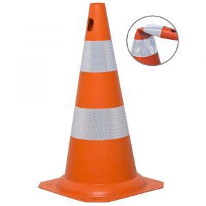 Cone de sinalização flexível (emborrachado) refletivo 50cm Pista e Campo