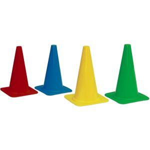 Cone de sinalização 23cm de PVC base quadrada Pista e Campo