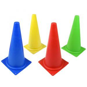 Cone de sinalização 38cm de PVC Pista e Campo