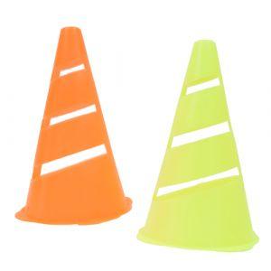 Cone de sinalização flexível e fluorescente 23cm Pista e Campo