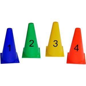 Cones de 23cm numerados Pista e Campo - cnj com 10 und