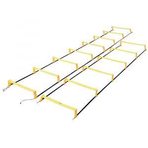 Escada de agilidade com 10 degraus ajustáveis na altura e distância 5m Pista e Campo - NOVIDADE!!!