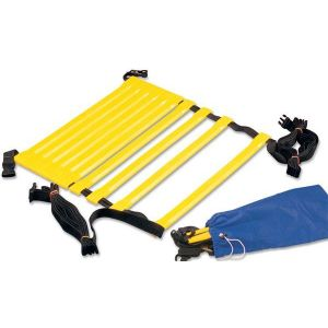Escada de agilidade com degraus ajustáveis de plástico 4m Pista e Campo