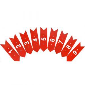 Flechas numeradas de orientação para minigolfe Pista e Campo - cnj com 9 und (1-9)