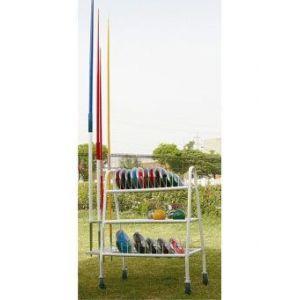 Carrinho para transporte e armazenagem de discos, pesos e dardos Pista e Campo