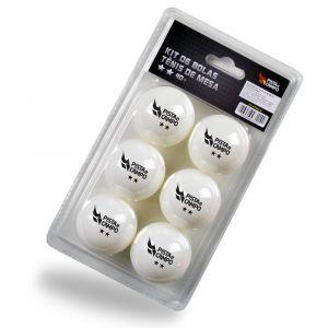 Bolinha de tênis de mesa 2 estrelas Pista e Campo - cnj com 6 und - branca preview