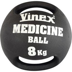 Bola medicinal (medicine ball) de borracha com empunhadura 8kg Vinex