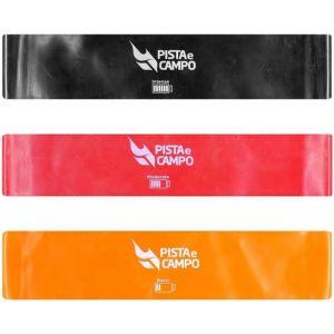 Faixa elástica miniband Pista e Campo - Kit com 3 resistências