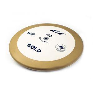 Disco de atletismo de bronze e ABS 1,00kg 87% avançado ATE Gold - Certificado WA-IAAF