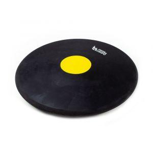 Disco de atletismo de borracha preto com centro colorido 1,50kg Pista e Campo capa