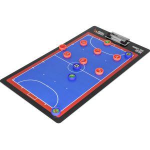 Prancheta tática magnética dupla face com caneta para treinamento de Futsal Pista e Campo capa