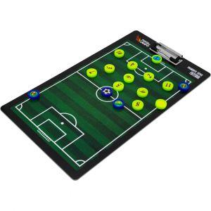 Prancheta tática magnética dupla face com caneta para treinamento de Futebol Pista e Campo