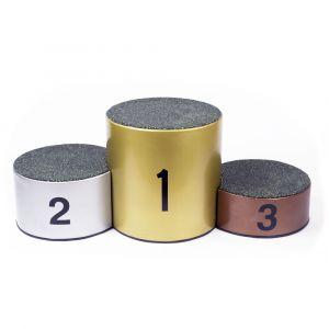 Podium de fibra de vidro para premiação esportiva de 3 ou 5 atletas Pista e Campo