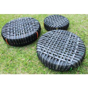 Cama elástica pula-pula de pneu para recreação infantil e treinamento funcional Pista e Campo
