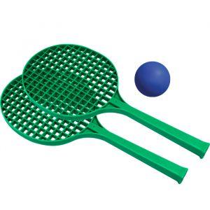 Raquetes infantis para mini-tênis e frescobol Pista e Campo - kit com 2 und e bolinha