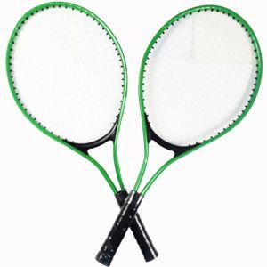 Kit com duas raquetes de alumínio para tênis infantil e bolinha