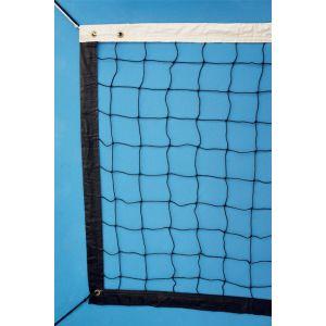 Rede oficial de voleibol com fio 2mm dimensões 9,75m (L) x 1,00m (A) com 04 faixas de vinil Pista e Campo