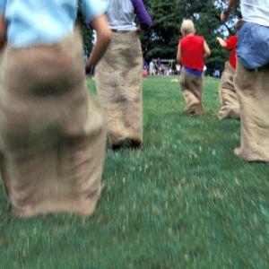 Saco de juta para corrida do saco - recreação infantil Pista e Campo