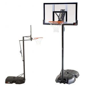 Tabela de basquete adulto móvel com poste, tabela de acrílico e aro modelo premium Pista e Campo capa