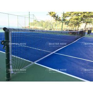 Rede oficial competição de tênis de campo 4mm Master com cabo de aço