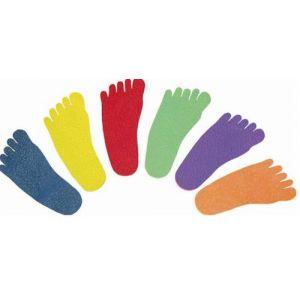 Pegadas de borracha para mini-atletismo Pista e Campo - cnj com 6 pares