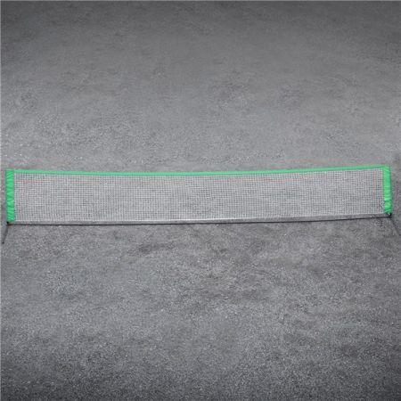 Rede portátil para soccer tennis e mini-tênis com postes e estrutura de aço com 6x1m Pista e Campo