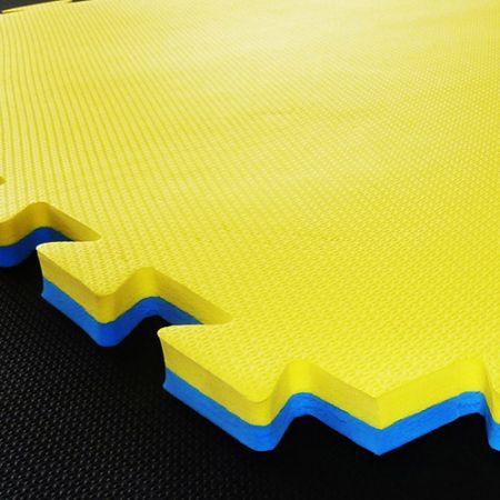 Tatame de EVA para artes marciais 1m x 1m x 40mm dupla face antideslizante Pista e Campo
