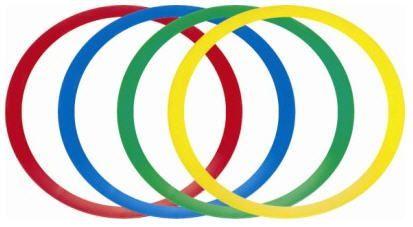 Arcos planos de agilidade 45cm Pista e Campo - cnj com 12 und