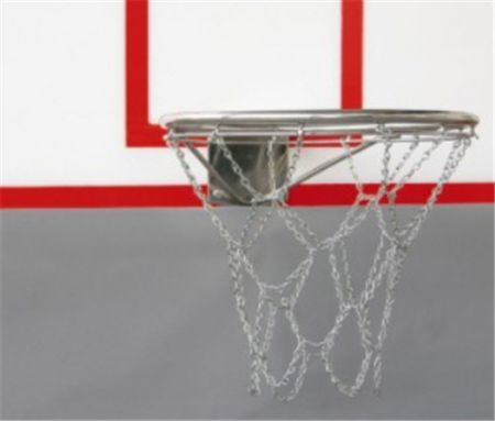 Aro oficial de basquete de aço inox para área externa Pista e Campo